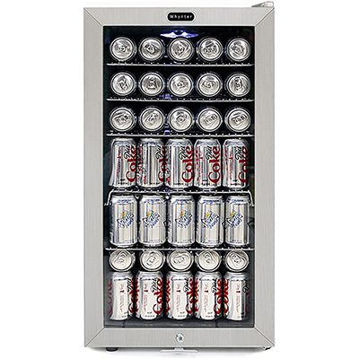 6. Whynter BR-128WS Beverage Refrigerator with Lock
