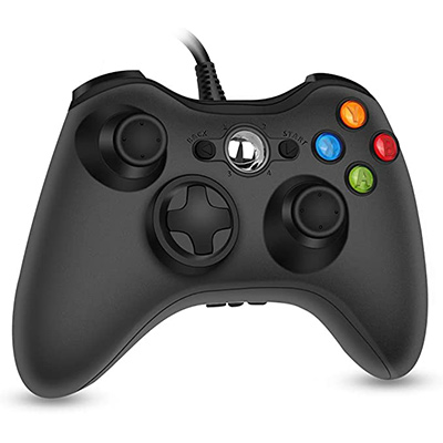 6. RegeMoudal 360 PC Game Wired Controller (Black 1)