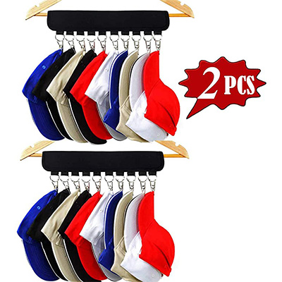 8. XJunion 10 Baseball Cap Organizer for Closet
