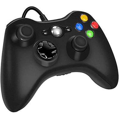 3. YAEYE Xbox 360 Wired Game Controller (Black)