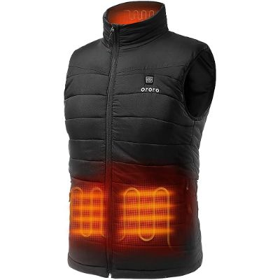 10. ORORO Men's Lightweight Heated Vest with Battery Pack