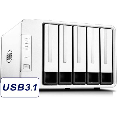 5. TerraMaster USB3.1 Diskless Type C 5-Bay Hard Drive (D5-300C)