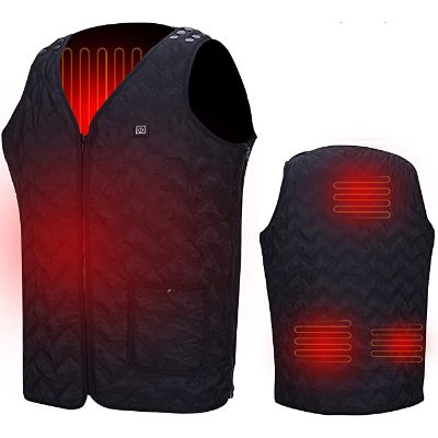 8. Seenew USB Electric Heated Vest (Battery not included)