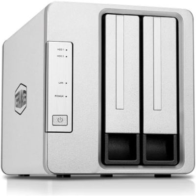 8. TerraMaster 2-Bay NAS Quad Core Diskless Media Server (F2-210)